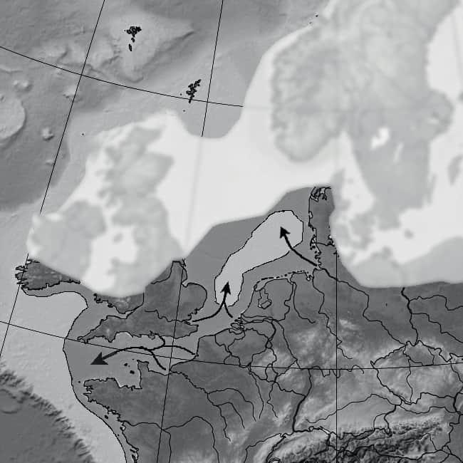 -450 000 ans. Nord de l'Europe