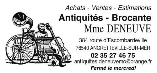 Antiquités – Brocante – Mme DENEUVE